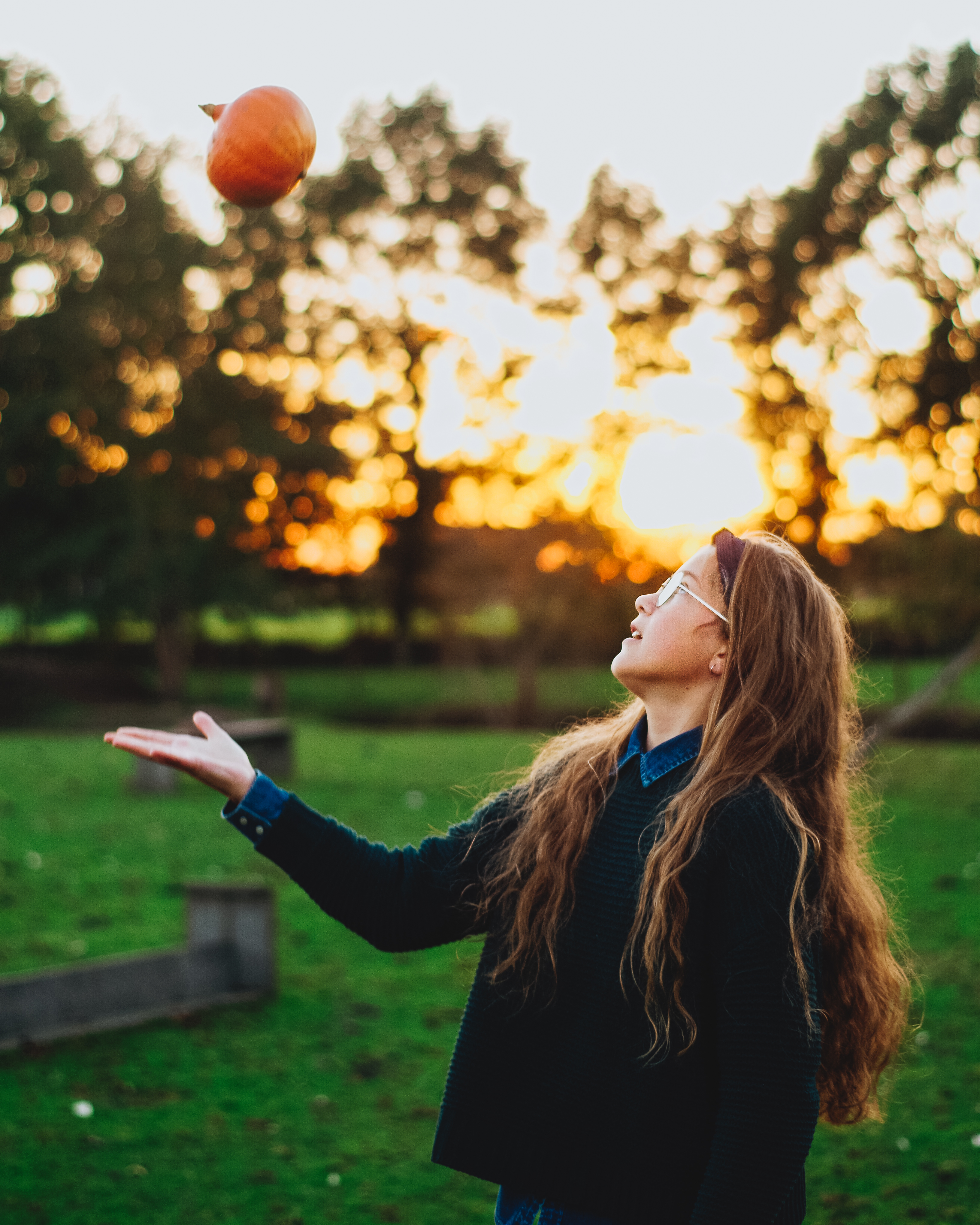 throwing pumpkins