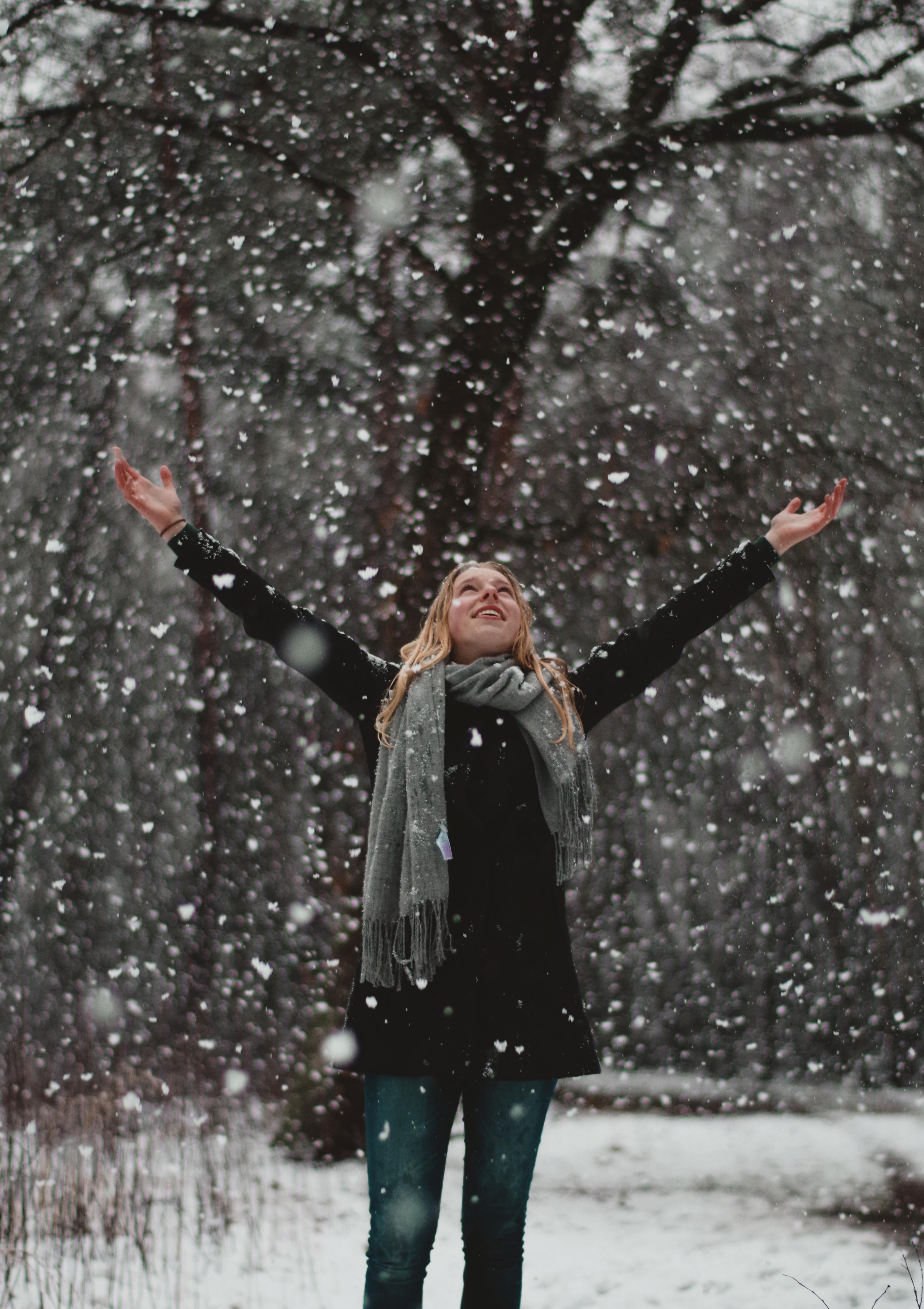 foto's in de sneeuw maken