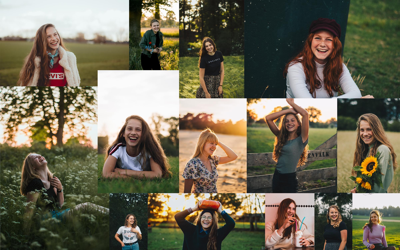 Smile poses
